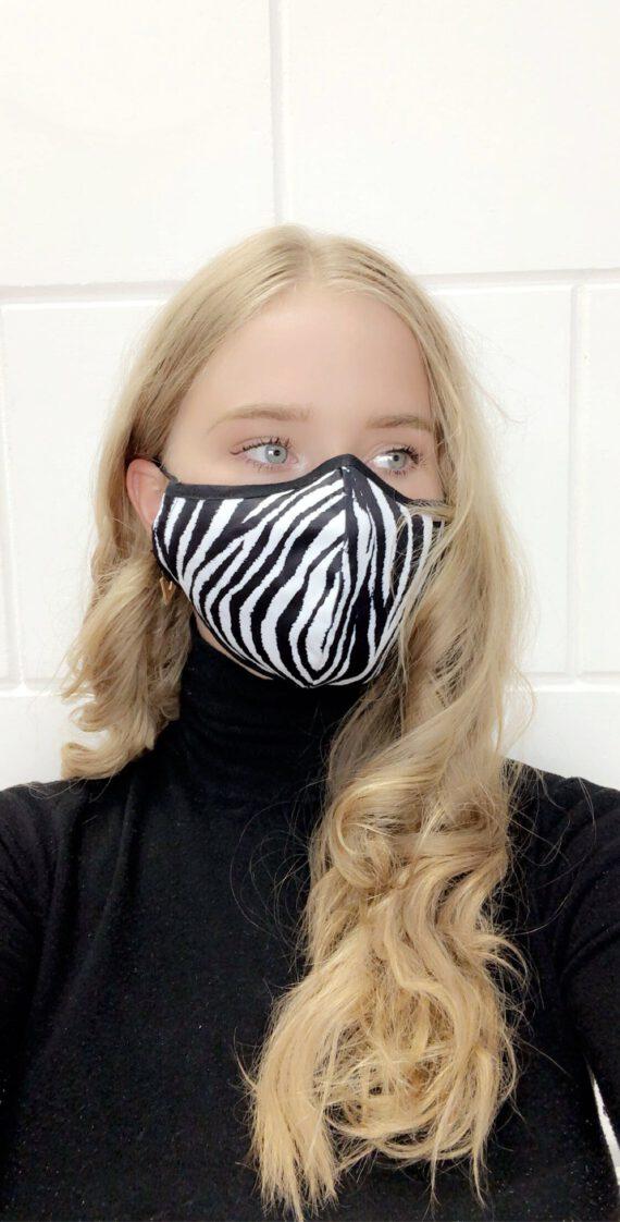 mask 28 zebra print