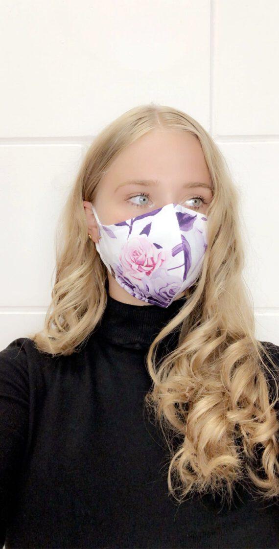 mondmasker met bloem 39