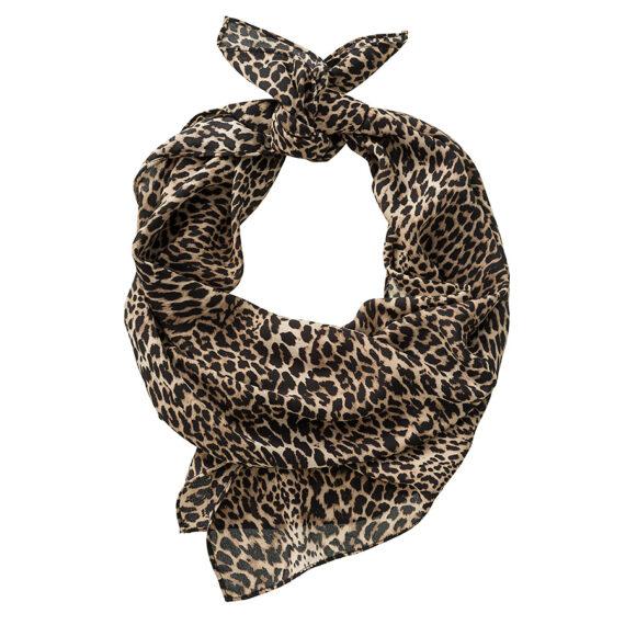 Zijde bandana in een panter print