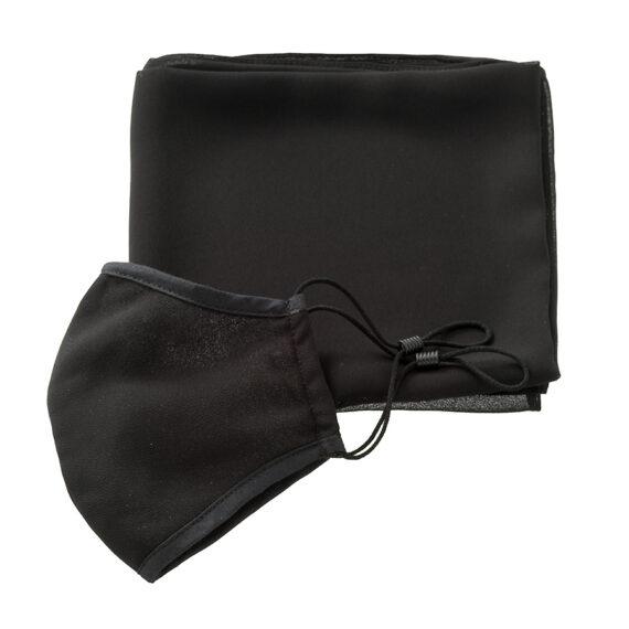 mondkapje in zwart chiffon